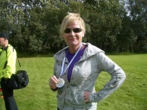 Elsa Sigríður að loknu Brúarhlaupinu 2012