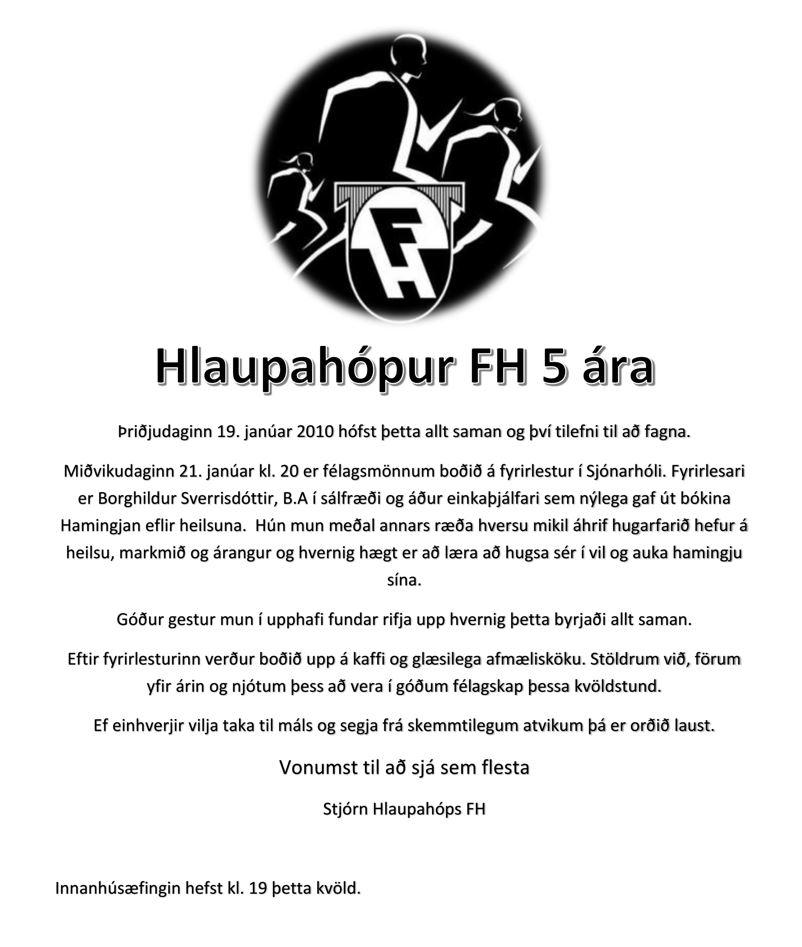 Hlaupahópur FH 5 ára